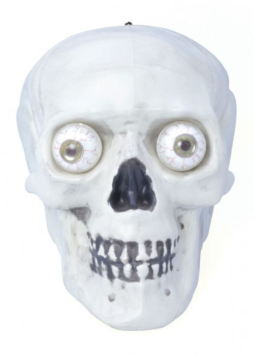 Halloween Skull Hanging With Light Up Eyes Trick Or Treat Party Decoration